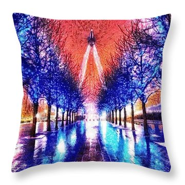 Into The Eye Throw Pillow by Mo T