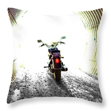 Throw Pillow featuring the photograph Into The Light by Blair Stuart