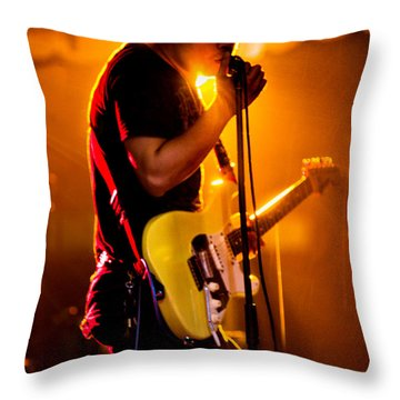 Into The Mic Throw Pillow by Christopher Holmes