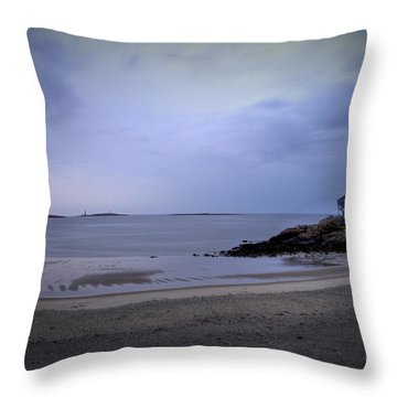 Into The Night In Cape Ann Throw Pillow by Brenda Giasson