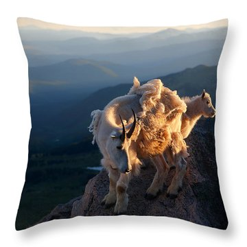 Two Faces West Throw Pillow