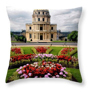 Invalides Paris France Throw Pillow by Dave Mills