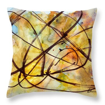 Inverno Abstract Watercolor Throw Pillow by Chriss Pagani