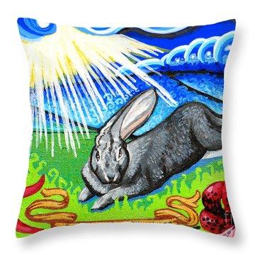 Iorek Byrnison Silvertongue Throw Pillow by Genevieve Esson