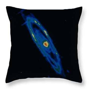 Iras Infrared Image Of The Andromeda Throw Pillow by NASA / Science Source