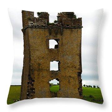 Ireland- Castle Ruins II Throw Pillow