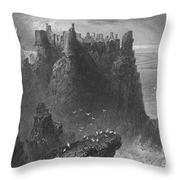 Ireland: Dunluce Castle Throw Pillow by Granger