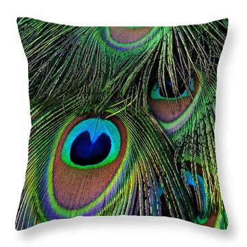 Iridescent Eyes Throw Pillow
