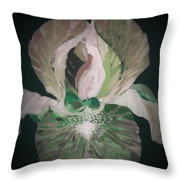 Iris 4 Throw Pillow
