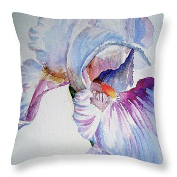 Iris In The Garden Throw Pillow
