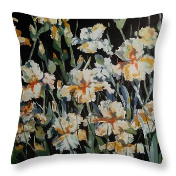 Iris Tapestry Throw Pillow