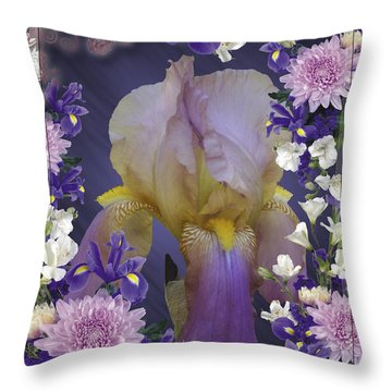Iris Within Throw Pillow