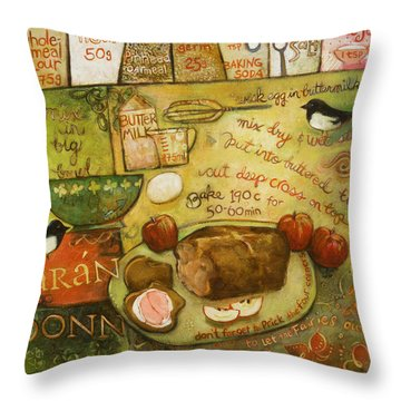 Irish Brown Bread Throw Pillow by Jen Norton