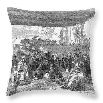 Irish Emigration Throw Pillow by Granger