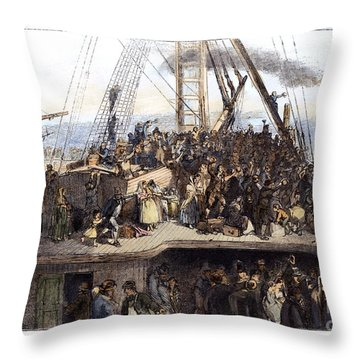 Irish Immigrants, 1850 Throw Pillow by Granger
