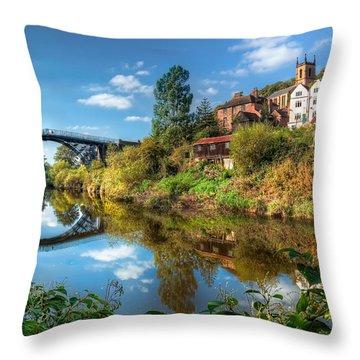 Iron Bridge 1779 Throw Pillow by Adrian Evans