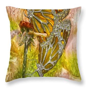 Iron Butterflys Throw Pillow by Jack Zulli
