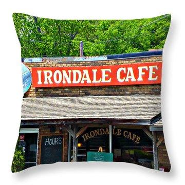 Irondale Cafe  Throw Pillow