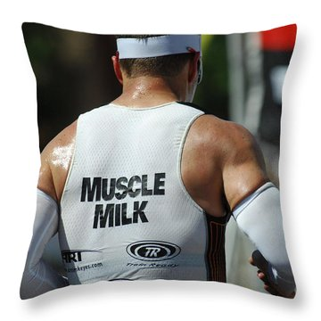 Ironman Muscle Milk Throw Pillow by Bob Christopher