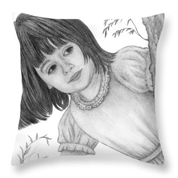 Is It Alice Throw Pillow by Audra D Lemke