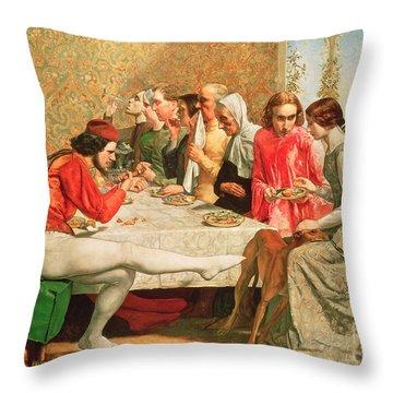 Isabella Throw Pillow by Sir John Everett Millais