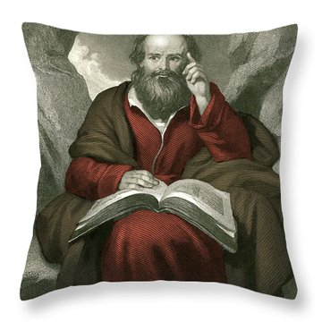 Isaiah, Old Testament Prophet Throw Pillow by Photo Researchers