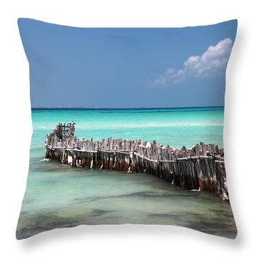 Isla Mujeres Throw Pillow