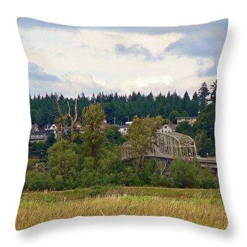 Island Bridge Throw Pillow by Pamela Patch