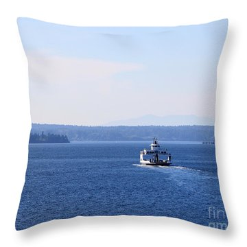 Island Ferry Throw Pillow by Billie-Jo Miller