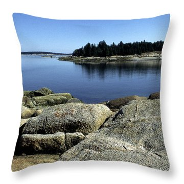 Island In The Bay Throw Pillow by Thomas R Fletcher