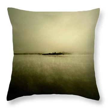 Island Of Mystic  Throw Pillow by Jerry Cordeiro