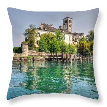 Island San Giulio Throw Pillow
