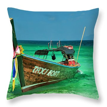Island Taxi  Throw Pillow by Adrian Evans