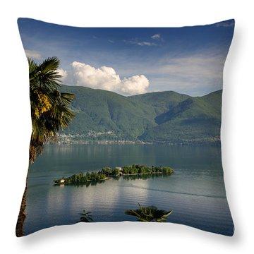 Islands On An Alpine Lake Throw Pillow