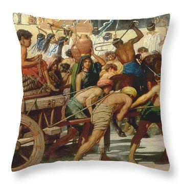 Israel In Egypt Throw Pillow by Sir Edward John Poynter
