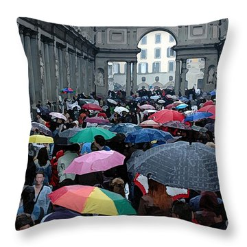 It Rains Throw Pillow by Vivian Christopher
