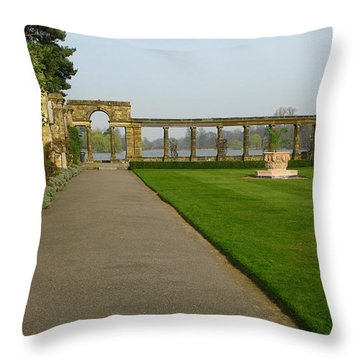 Italian Gardens Throw Pillow by Maria Joy