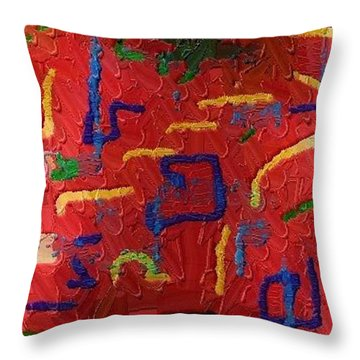 Throw Pillow featuring the digital art Italian Pillow by Alec Drake