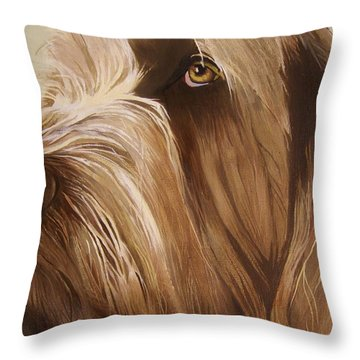 Italian Spinone Throw Pillow