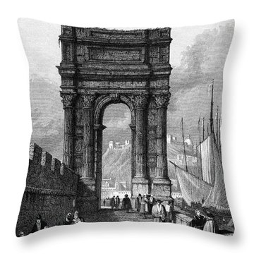 Italy: Ancona, 1833 Throw Pillow by Granger