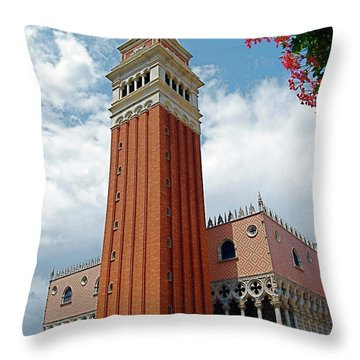 Italy In Orlando Throw Pillow