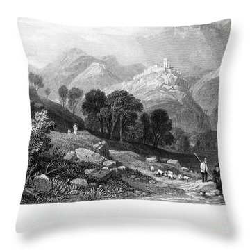 Italy: Licenza, 1833 Throw Pillow by Granger