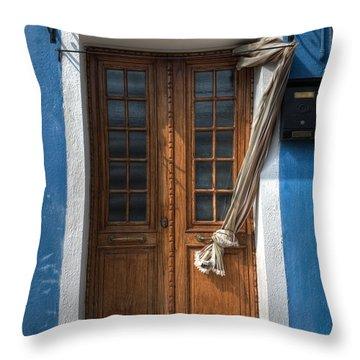 Italy Old Door Throw Pillow by Joana Kruse