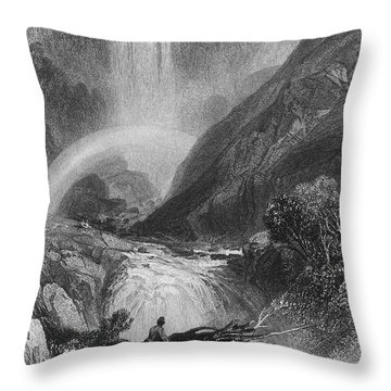 Italy: Waterfall, 1833 Throw Pillow by Granger