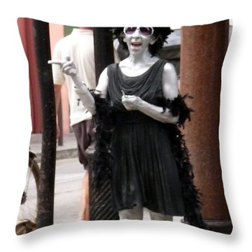Throw Pillow featuring the photograph It's A Black And White World by Jo Sheehan