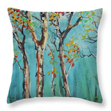 Throw Pillow featuring the painting It's A Good Day by Dan Whittemore