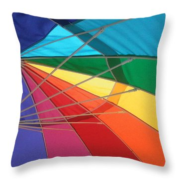 Throw Pillow featuring the photograph It's A Rainbow by David Pantuso