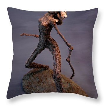 It's Not Nice To Fool Mother Nature Throw Pillow by Adam Long