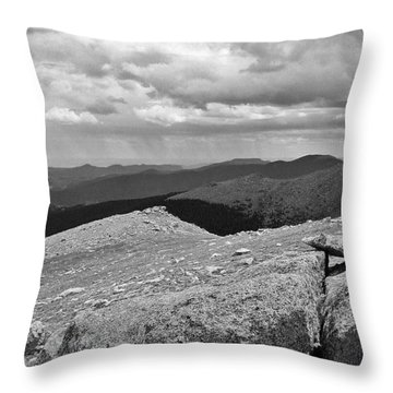Throw Pillow featuring the photograph It's Raining In The Distance by David Pantuso