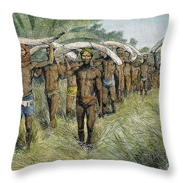 Ivory Trade, C1875 Throw Pillow by Granger